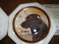 Black Labrador, Man'S Best Friend by Ruane Manning plate