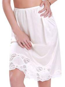 Long Lace Trim Skirt Slip 1817
