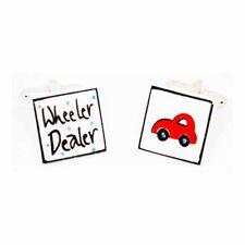 Red Wheeler Dealer gemelli da Sonia Spencer, in scatola regalo, auto, Antico, prezzo consigliato £ 20