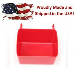 Small Plastic Red Pegboard Storage/Part Bins, Multi-Pack Pricing JSP Brand