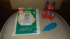 2001 McDonalds happy meal toy robo chi pets meow chi # 4 red cat robot