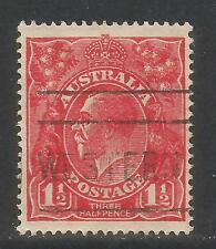 Australia 1924 King George V 1 1/2p carmine unwmk (65) fine used