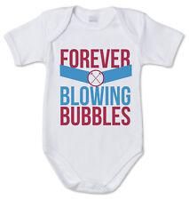 BODY tutina bimbo neonato J2345 I'm Forever Blowing Bubbles Ultras West Ham