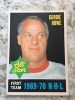 1970-71 OPC O-Pee-Chee Hockey #238 Gordie Howe 1st Team All Star Red Wings R67