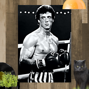 Rocky Balboa Framed Canvas Art Picture Print Poster Ready To Hang