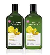 Avalon Organics Purificante Limone Shampoo e balsamo Confezione 325ML ogni