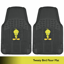 Tweety Bird Rubber Floor Mats Car 2 PC Front Heavy Duty All Weather Warner Bros