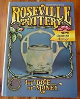 Roseville Pottery for Love or Money book by Virginia Buxton, 1996 Free Shipping