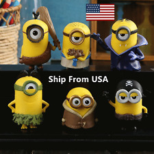 Despicable Me 2 Minions Movie Character Figures Cute Toys Doll Cup Cake 6 pcs