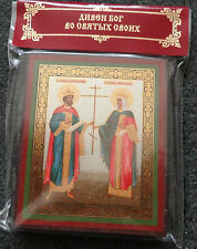 NEW SS Constantine & Helen  RUSSIAN WOOD   ICON