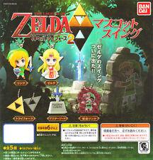 Bandai Zelda no Densetsu Kamigami no Triforce 2 Keychain Link Figurine Set of 5