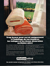 PUBLICITE  1970   GROUPE ENKA GLANZSTOFF   DIOLEN   voilages tissus rideaux