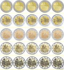 manueduc   ALEMANIA 2009  10  11  12  y 13  LAS 5 CECAS  A D F G J  25 Monedas