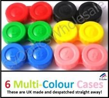 6 X Contact Lens Storage Soaking Cases Multi Colour