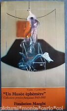 BACON*AFFICHE*1985*EXPOSITION*FONDATION*MAEGHT*ART*MUSEE*RARE*VINTAGE*RARE