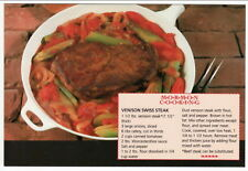 Postcard Recipe VENISON SWISS STEAK Mormon Cooking