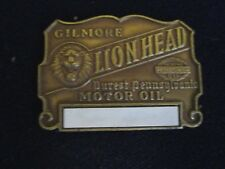 GILMORE GAS STATION OIL CHANGE STICKER LION HEAD MOTOR OIL NOS 1920's 30's