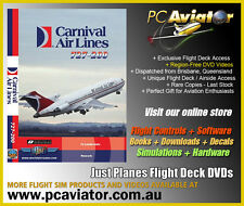 Just Planes Carnival Air Lines 727 Flight Deck DVD Video - RARE - New & Sealed