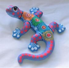 "Ceramic Clay Lizard Salamander Figurine Hand-painted Mexican Wall Art 8"" L7"