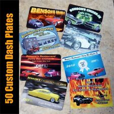 "50 Custom Car Show 2""x 3"" Full Color Dash Plates Plaques Event Antique Hot Rod"