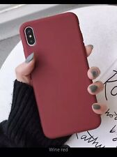 Luxury  Silicone Phone Cover Ultra-Thin Back Case For i Phone XS Max Wine Red