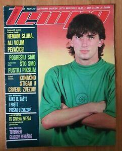 Magazine TEMPO 1326 football Vladan Lukic cover FC Red star team poster Yug 1991