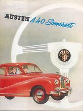 Austin A40 Somerset Saloon 1952-54 Original UK Sales Brochure Pub No 904/E