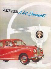 Austin A40 Somerset Saloon 1952-54 Original UK Sales Brochure Pub No 904/E