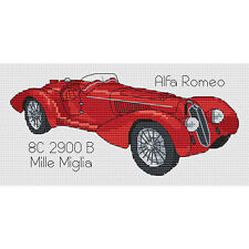 Alfa Romeo 8C 2900 B Mille Miglia Cross Stitch Design (kit or chart)