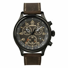 056e083b9 Timex Tw4b04300 Men's Expedition Scout Leather Chronograph Watch B2
