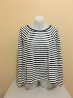 Women Ladies Sunny Girl Black & White Striped Blouse Long Sleeve Top