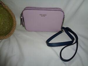 Kate Spade Cameron Double Zip Small Crossbody Handbag Lavender Phone Mini Bag