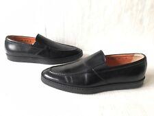Santoni Farley Slip-On Sneaker in Black. Size 8