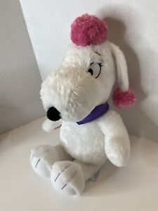 Peanuts Movie Fifi Plush White Poodle Build A Bear 18 Inches Snoopy  P3