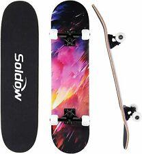 Skateboard Komplettboard Deck Board Funboard Pennyboard ABEC-9 mit PU-Rad Unisex