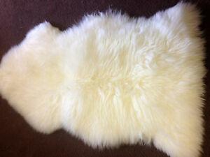 Genuine Sheepskin Rug Ivory White Sheep Skin Fur - Australian Sheep Rug 2 X 3 ft