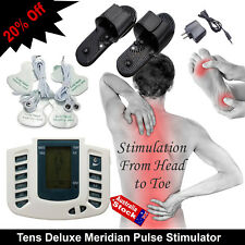 TENS DIGITAL THERAPY FULL BODY MASSAGER FOOT PADS NECK SHOULDER LEG LOWER BACK