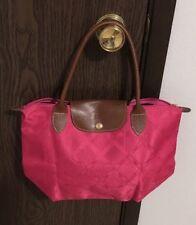 Longchamp le Pliage M Fuschia Large Foldable Nylon Tote Purse Bag