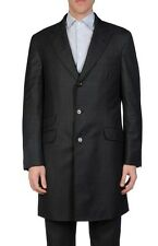 3,540$ Brunello Cucinelli Dark Gray Wool Coat Size XXL or EU 56 Made in Italy