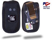 Turtleback Sanyo TAHO Flip Phone Black Nylon Case with Metal Belt Clip