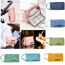 Canvas Large Pencil Case Pen Pouch School Box Kid Bag Multifunctional Zipper Lot