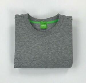 Men's Light Grey Boss Hugo Boss Sweatshirt Large L Slim Fit Crewneck Salbo A