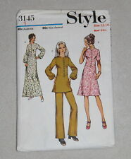 Vintage pattern by STYLE  no. 3145 Junior/Teen size 13/14 dress/tunic/pants 1971