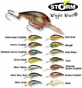 "Storm Original Wiggle Wart, V-05 Model, 2"" 3/8 oz, Choice of Colors"