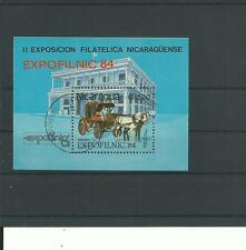 Nicaragua, 1984, Block, gestempelt, echt,Transport Tiere Pferd Kutsche a2