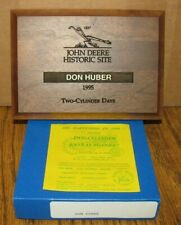 John Deere Historic Site Two-Cylinder Days 1995 Award 1837 Steel Plow jd Huber