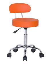 SixBros. Tabouret à Roulettes Tabouret de Travail orange M-95027X/2133