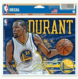 KEVIN DURANT GOLDEN STATE WARRIORS MULTI-USE DECAL 5X6 CAR WINDOW LAPTOP COVER
