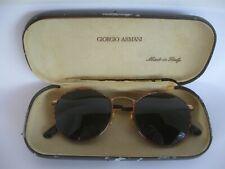 Vintage Giorgio Armani Brown Lens Tortuga Sunglasses Italy With Original Case