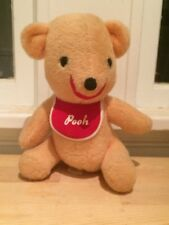 Vintage Retro Classic Winnie the Pooh with Red Bib Disney Plush Teddy Bear 9""